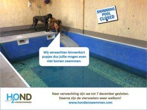 Hondenzwembad gesloten | H2Ond